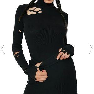 Dollskill Black sweater & skirt set